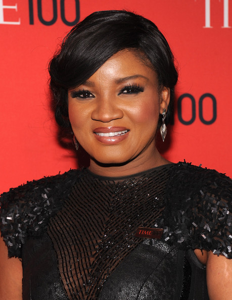 More Pics of Omotola Jalade Ekeinde Bobby Pinned updo (2 of 2) - Omotola Jalade Ekeinde Lookbook - StyleBistro