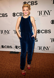 Annaleigh Ashford chose a velour jumpsuit for her ultra saucy look at the Tony Awards Nominees Reception.