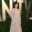 Zooey Deschanel Wore Valentino at the Vanity Fair Oscars Party 2013