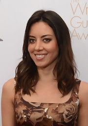 Aubrey Plaza left her hair down in subtle waves during the 2013 Writers Guild Awards.
