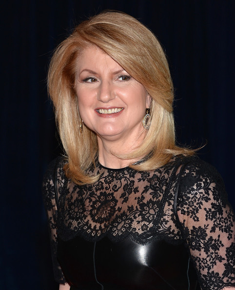 Arianna Huffington chose a basic nude lip for her look at the White House Correspondents' Dinner.