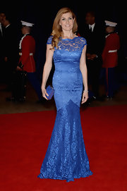 Connie Britton's blue lace gown showed off the star's rocking figure.