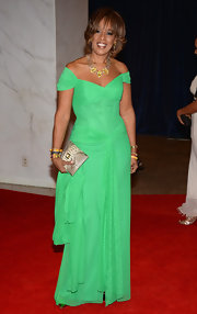 Gayle King's off-the-shoulder dress showed off her curves at the White House Correspondents' Dinner.