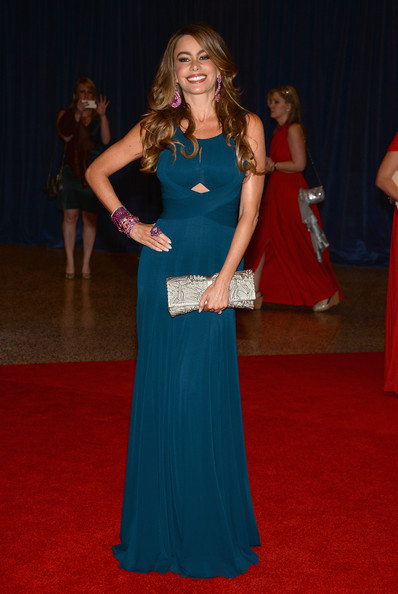 More Pics of Sofia Vergara Evening Dress (1 of 6) - Sofia Vergara Lookbook - StyleBistro