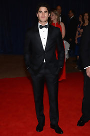 Darren Criss showed off his dapper style with this crisp black tux and bow tie.