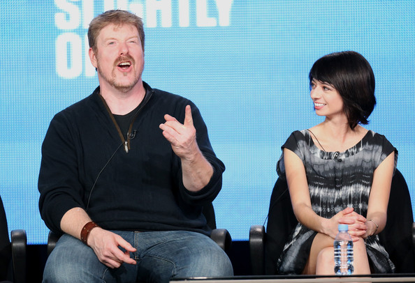 More Pics of Kate Micucci Layered Razor Cut (1 of 10) - Kate Micucci Lookbook - StyleBistro [out there,conversation,event,interaction,sign language,actors,justin roiland,kate micucci,portion,winter tca,l,ifc,panel discussion,winter tca tourduring]