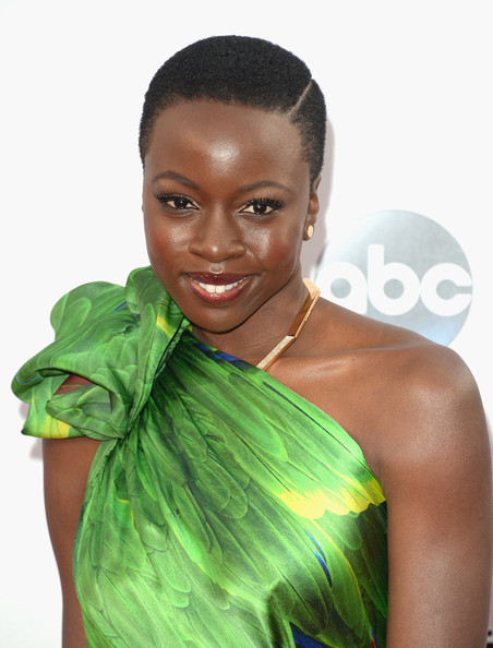More Pics of Danai Gurira Short Curls (1 of 3) - Short Hairstyles Lookbook - StyleBistro [hair,hairstyle,green,shoulder,beauty,human,black hair,lip,joint,long hair,arrivals,danai gurira,american music awards,nokia theatre l.a. live,los angeles,california]