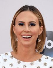 Keltie Knight got a little playful with her beauty look, rocking a heavy application of blue eyeshadow.