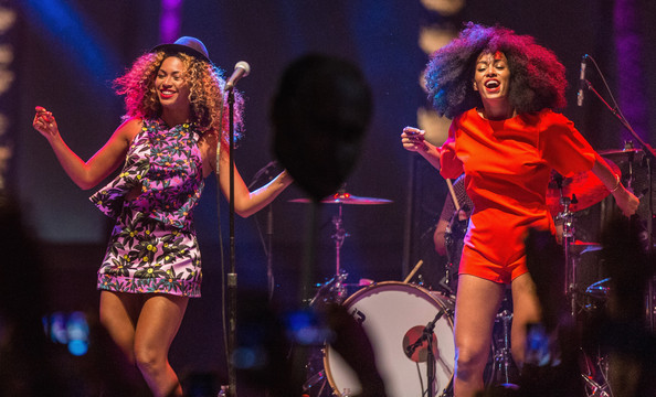 Beyonce and Solange in Matchy-Matchy Outfits