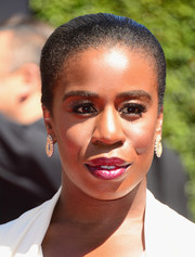Uzo Aduba opted for a sleek bun when she attended the Creative Arts Emmy Awards.