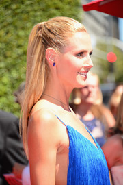 Heidi Klum kept it simple with this sleek half-up 'do at the Creative Arts Emmy Awards.
