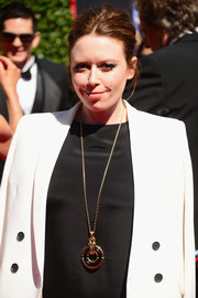 Natasha Lyonne attended the Creative Arts Emmy Awards wearing an oversized door knocker pendant necklace by Cartier.