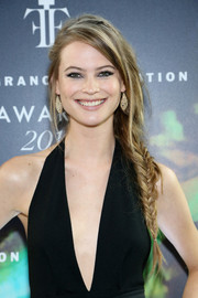 Behati Prinsloo looked totally enchanting wearing this loose fishtail braid at the Fragrance Foundation Awards.