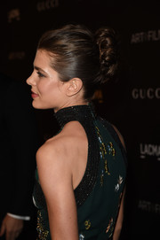 Charlotte Casiraghi sported a sophisticated twisted bun at the LACMA Art + Film Gala.