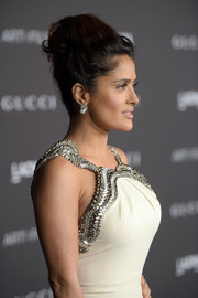 Salma Hayek wore her hair in an elegant beehive during the LACMA Art + Film Gala.