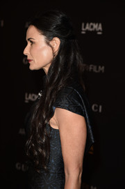 Demi Moore wore her super-long waves in a classic half-up style for the LACMA Art + Film Gala.
