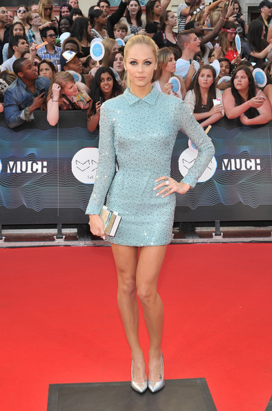Laura Vandervoort dazzled all the way down to her silver Giuseppe Zanotti pumps.