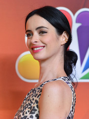 Krysten Ritter styled her hair into a loose, low chignon for the NBC Upfront Presentation.