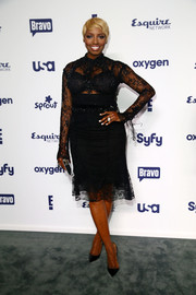 NeNe Leakes went for sexy elegance in a sheer lace LBD during the NBCUniversal Cable Entertainment Upfronts.