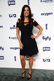 Patti Stanger donned a sultry black cutout dress for the NBCUniversal Cable Entertainment Upfronts.