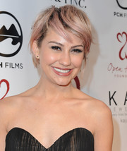 Chelsea Kane looked oh-so-cool with her pink-dyed razor cut at the 2014 Open Hearts Foundation Gala.
