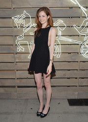 Stephanie La Cava showed lots of skin in a super-short, side boob-revealing LBD during the Coach Summer Party.