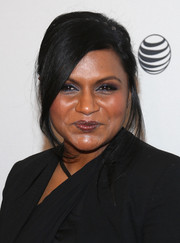 Mindy Kaling rocked a retro ponytail at the 'Alex of Venice' after-party during the 2014 Tribeca Film Festival.