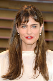 Amanda Peet opted for a casual straight 'do with baby bangs when she attended the Vanity Fair Oscar party.