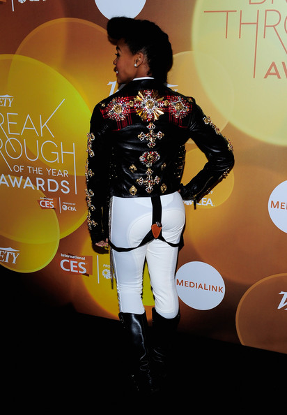 More Pics of Janelle Monae Motorcycle Jacket (1 of 9) - Motorcycle Jacket Lookbook - StyleBistro
