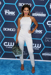 Liz Hernandez looked uber cool in her white jumpsuit at the Young Hollywood Awards.