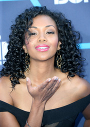 Mishael Morgan looked sassy with her sculpted curls at the Young Hollywood Awards.