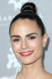 Jordana Brewster pulled her tresses back into a tight top knot for the Baby2Baby Gala.