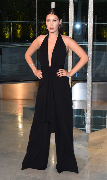 More Pics of Bella Hadid Jumpsuit (4 of 4) - Suits Lookbook - StyleBistro [fashion model,clothing,fashion,haute couture,dress,fashion show,neck,shoulder,fashion design,event,bella hadid,cocktails,alice tully hall,new york city,lincoln center,cfda fashion awards]
