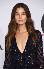 Lily Aldridge looked lovely with her boho waves at the CFDA Fashion Awards.
