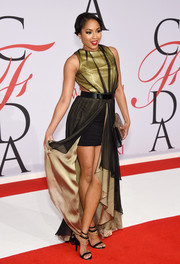 Alicia Quarles worked the CFDA Fashion Awards red carpet in a sassy Kim Mesches fishtail dress.