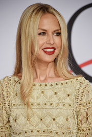 Rachel Zoe stuck to her signature center part when she attended the CFDA Fashion Awards.