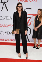 Jenna Lyons rocked a loose black tux-style jumpsuit at the CFDA Fashion Awards.