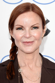 Marcia Cross wore her hair in a side braid for a fun and youthful look during the Film Independent Spirit Awards.