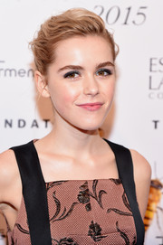 Kiernan Shipka looked chic with her mussed-up bun at the Fragrance Foundation Awards.