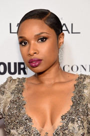 Jennifer Hudson sported a super-short, slicked-down hairstyle at the Glamour Women of the Year Awards.