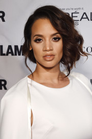 Dascha Polanco made an ultra-elegant statement with this side-swept curly updo at the Glamour Women of the Year Awards.