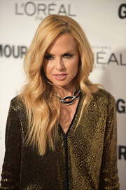 Rachel Zoe left her blonde tresses loose with a side part and gentle waves when she attended the Glamour Women of the Year Awards.