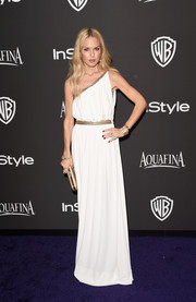 Rachel Zoe showed off her effortlessly elegant sense of style with this white Grecian one-shoulder gown at the InStyle and Warner Bros. Golden Globes party.