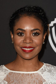 Regina Hall sported a youthful and lovely crown braid at the InStyle and Warner Bros. Golden Globes party.