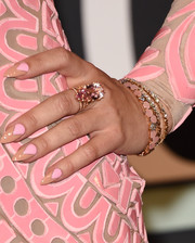 Demi Lovato's nail art coordinated perfectly with her dress!