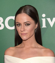 Alexandra Park wore her hair slicked down and straight with a center part during the NBCUniversal Summer Press Day.