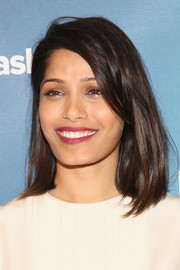 Freida Pinto attended the 2015 Social Good Summit wearing her hair in a classic mid-length bob.