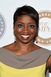 Montego Glover wore her hair in a pixie cut at the 2015 Steinberg Playwright Awards.