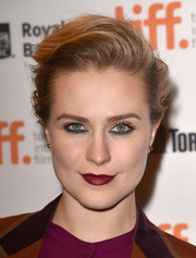 Evan Rachel Wood wore a rocker-chic pompadour to the TIFF premiere of 'Into the Forest.'