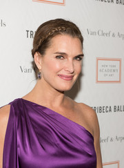 Brooke Shields styled her hair into a cute crown braid for the Tribeca Ball.